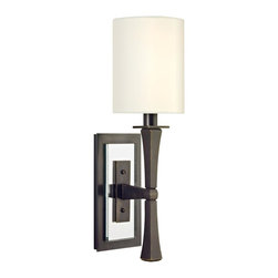 Hudson Valley - 2111-OB York Wall Sconce, Old Bronze, Eco Paper Glass - Modern Contempo Wall Sconce in Old Bronze with Eco Paper glass from the York Collection by Hudson Valley.