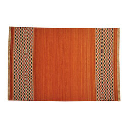 1800-Get-A-Rug - 100% Wool Durie Kilim Hand Woven Flat Weave Reversible Rug Sh15745 - The Flat Weave hand woven rug is a type of hand-knotted area rug created by weaving wool onto a foundation of cotton warps on a loom. The Flat Weave rug offers the same beauty and durability as the classical thick-pile Oriental rugs, but without the telltale thick pile often spotted in other rugs. This gives the Flat weave a thin and flat appearance which resembles the Needlepoint, making them wonderfully ideal choices as accent rugs, wall hangings, or to drape over furniture and staircases.