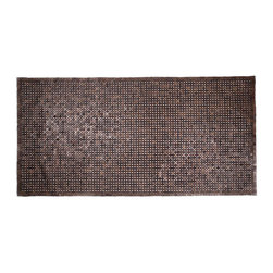 None - Muir Dark Brown Natural Exotic Wood Rug (3' x 5'11) - Crafted of exotic wood, this handsome mat will add an elegant touch to any home. This mat is durable and weather-proof making it perfect for outdoor use.