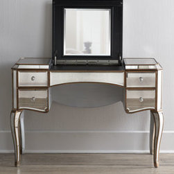 Horchow - 'Claudia' Mirrored Vanity/Desk - I absolutely love the Old Hollywood–glamour vibe that a mirrored vanity lends to a dressing room or bedroom.