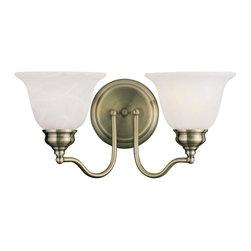 Livex Lighting - Livex Lighting 1352-01 Bath Light - Glass Type/Shade Type: White Alabaster Glass