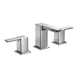 Moen - Moen 90 Degree Two-Handle Low Arc Bathroom Faucet, Less Valve, Chrome (TS6720) - Moen TS6720 90 Degree Two-Handle Low Arc Bathroom Faucet, Less Valve, Chrome
