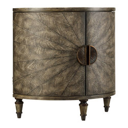 Hooker Furniture - Hooker Furniture Melange Tatum Demilune 638-50128 - Come closer to Melange and you will discover something unexpected, an eclectic blending of colors, textures and materials in a vibrant collection of one-of-a-kind artistic pieces.