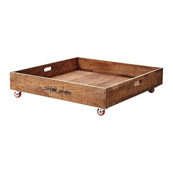 Under Bed Rolling Storage Crate - Maximize your home's storage capacity by taking advantage of the (often lost) space under your bed. These rolling drawers will help you do so in a practical and organized way.