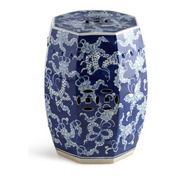 """Horchow - """"Butterfly"""" Garden Stool - Add a couple of Chinese garden stools to your balcony or garden. They look great, can be used as extra seating or side tables, and are extra durable for outside use in the summer."""