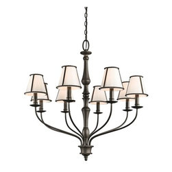 Kichler - Kichler 43344 Donington Single-Tier Candle-Style Chandelier - Kichler 43344 Donington Chandelier