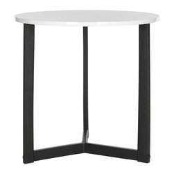 Safavieh - Ballard Lacquer End Table - Life is a balancing act, and the Ballard end table is no exception. The perfect yin and yang of black iron tripod base and wood top with shiny white lacquer finish, this table brings an open, airy look to the contemporary or transitional living room.