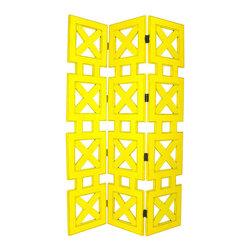 Wayborn - Wayborn Hunter Room Divider in Yellow - Wayborn - Room Dividers - 2369Y -