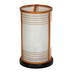 """Oriental Furniture - 13"""" Shinjuku Japanese Shoji Lantern - Natural - This round rice paper lantern includes elements of old and new Japanese design. The body of the lamp is crafted from lacquered wood, and the shade is fiber reinforced pressed pulp rice paper. Like all rice paper lanterns, they cast a beautiful, soft, warm, indirect light, which, some people feel, tends to make everything in the room look better. Rice paper lanterns came into use in Japan when paper was first produced there. They have been popular ever since. Of course now they're electric, not candles, and have distinctive modern design elements, like the decorative lattice rings and the convenient arched cross piece on the top collar. Although they look like expensive accent lamps, we import these lamps directly, and pass the savings on to our customers."""