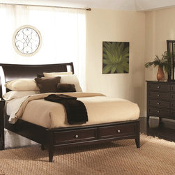 Aspenhome Furniture Kensington Bedroom Collection - Kensington Collection by Aspenhome has smooth java finish and clean lines complement the hustle and bustle of modern metropolitan life. Informal yet chic, its glossy silhouette fits perfectly in a loft apartment.