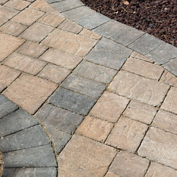 Bella Vista Interlocking Pavers - The Bella Vista Stonetop Tumbled concrete interlocking paver has a cleft surface which gives the textured appearance of natural stone. We tumble this concrete paver to give it a weathered, old-world feel. Pavers available in three sizes as well as a variety of beautiful colors.