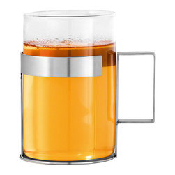 Blomus - Pekoe Tea Glass - The Pekoe Tea Glass mixes glass and stainless steel to create a stunning mug that is sure to impress all of your house guests.  It's also dishwasher and microwave safe.