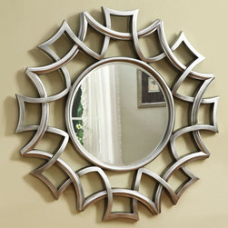 Coaster - 901733 Mirror - Unique starburst accent mirror finished in silver will work well in an entryway or living room.