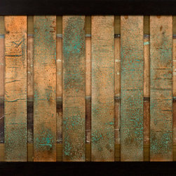 Paragon Decor - Oxidasia Artwork - Exclusive Dimensional Patinated Copper Panels - Patina will vary