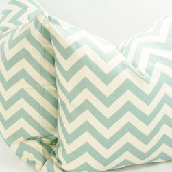 Decorative Chevron Pillow Cover by Luster Home - My love for all things chevron runs deep, so I could not leave out a pair of chevron throw pillows. I'll admit that I did not like the zigzag pattern at first, but then I realized that I wasn't wearing the stuff — I was coming home to the stuff! I like simple lines and clear designs, and that's what I see when I look at these pillows. I think my couch needs them.