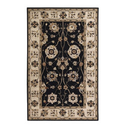 """Surya - Traditional Caesar Sample 1'6""""x1'6"""" Sample Black-Gold  Area Rug - The Caesar area rug Collection offers an affordable assortment of Traditional stylings. Caesar features a blend of natural Black-Gold  color. Hand Tufted of 100% Wool the Caesar Collection is an intriguing compliment to any decor."""