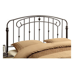 Monarch Specialties - Monarch Specialties 2617Q Queen/ Full Combo Headboard or Footboard in Coffee - This unique headboard/Footboard will be a wonderful addition to your bedroom. It features both curved and straight lines that add visual appeal to the piece. Finished in a coffee colored sturdy metal, this piece can accommodate a queen or full sized bed. Use as a footboard or add the extendable legs to create a headboard. This piece will no doubt help create a fresh look in any bedroom.