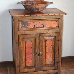 "Rustic Bathroom Vanities - Sierra Copper - Sierra Copper Anna Bathroom Vanity, Available in 24"" and 30"""