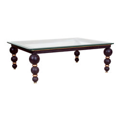 """GILANI - Orbs Coffee Table Base - Orbs Coffee Table Base (Rect) (S). Style no: CT22500. 51""""w x 39""""d x 17""""h. Orbs Coffee Table Base (Rect) (L). Style no: CT22505. 63""""w x 43""""d x 17""""h. Orbs Coffee Table Base (Sq). Style no: CT22509. 54""""w x 54""""d x 17""""h. Material: Wood, metal. Finish/Accents: As specified. Top Options: Glass. Custom sizing available. Designed by Shah Gilani, ASFD."""