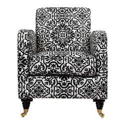 Angelo:Home Modern Damask Grant Armchair, Black and White - I've had my eye on this chair (in different colors) for years, but I haven't bought it yet. I need to at some point in my life, though.