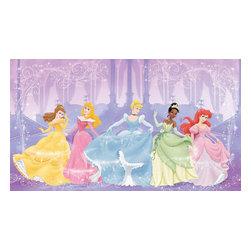 York Wallcoverings - Disney Perfect Princesses Large Prepasted Wallpaper Mural - Features: