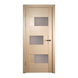 Dominika Bleached Oak Modern Interior Door With Frosted