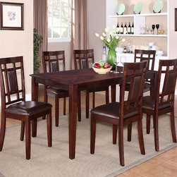 Standard Furniture - Standard Furniture Westlake 7 Piece Dining Room Set in Golden Brown - With its smart transitional styling  Westlake sets the stage for casual everyday dining and dresses up well for family gatherings or entertaining friends.
