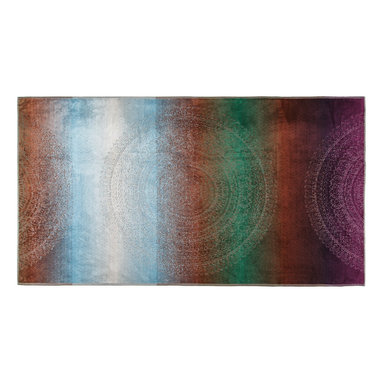Kassatex - Kassatex Spiaggia Cabana Beach Towel, Jewel Multi-Color - No need to read between the lines, these striped towels are utter perfection. One side blankets your skin in luxurious softness, while the other leaves the sand where it belongs — on the beach!