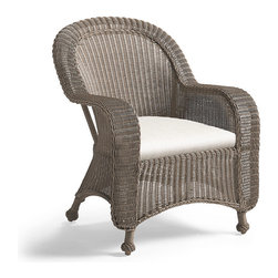 Frontgate - Charleston Dining Arm Chair Cushion, Patio Furniture - Premium, high-performing fabrics. UV-treated to resist fading. 100% solution-dyed and woven for superior color fastness and longevity. High-resiliency, high-density foam core with soft polyester wrap provides years of support without sagging. Sold as a complete cushion set (number of cushions varies depending on furniture piece). Our Charleston Replacement Cushions instantly update the seating with comfort and all-weather endurance. The cushions' high-performing fabrics resist fading and mildew, and are easy to clean. Multiple layers of fill help the cushions maintain their loft. Part of the Charleston Collection.. . . . . Includes cushions only; all furniture pieces sold separately. Clean with mild soap and water or a mild solution of water and bleach.