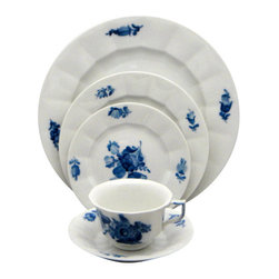 Royal Copenhagen - Royal Copenhagen Blue-Flowers (Smooth)  5 Piece Place Setting - Royal Copenhagen Blue-Flowers (Smooth)  5 Piece Place Setting