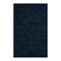 """Dalyn Rugs - Dalyn Rugs Dover DV6 Navy Rug DV6NV3X5 - """"Luxury"""", made in the USA. Stylish, tonal, geometric and floral designs. Textural cut and loop pile. 100% premium wool."""