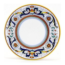 Artistica - Hand Made in Italy - RICCO DERUTA: Dinner plate - RICCO DERUTA: This product is part of the renown Ricco Deruta Collection.
