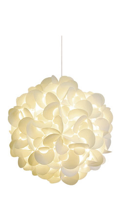 Akari Lanterns - DELUXE Rounds Hanging Pendant Lamp - Capture the feeling of a paper lantern rising against the night sky in your home with this round-cut, snow white version. A magical light envelopes you and bathes the room in a creamy glow. Inside that warm radiance, nights are sweet, thoughts are calm and dreams are possible. Available in three sizes.
