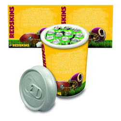 Picnic Time - Washington Redskins Mega Can Cooler in Silver Gray - The Extra large Can Cooler by Picnic Time is a hard-sided cooler and large beverage can replica that also doubles as a seat. It holds twenty seven 12-oz. cans and has a 5 gallon capacity. It features a snugly fitting, fully removable lid and folding handle. Perfect for the beach, patio, tailgating, parties, and sporting events. Made of HDPE.; Decoration: Digital Print