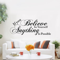 ColorfulHall Co., LTD - Stencils for walls If You Believe in Yourself Anything Is Possible - Stencils for walls If You Believe in Yourself Anything Is Possible