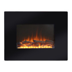 None - Black Metal 26-inch Wall Mount Electric Firebox - Create allure and add utility with this exquisite black Wall Mount Electric Fireplace. It will not only warm you up through the cold days,but also enhance the ambiance of virtually any room.