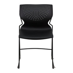Flash Furniture - Flash Furniture Stack Chairs Plastic Stack Chairs X-GG-KB-834-TUR - This multi-purpose stack chair fits in a multitude of environments. This chair will make a great conference, reception, meeting, office, and classroom or break room chair. The deeply curved back provides excellent comfort to your lumbar area while also providing airflow. Easily attach multiple chairs together for seminars through the convenient ganging floor glides. No matter what the function this multi-use chair will bring out the best in your event. [RUT-438-BK-GG]