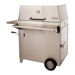 Hasty-Bake - Hasty-Bake Legacy 132 Stainless Steel Charcoal Grill - The original Hasty-Bake design and our most popular model, the Legacy is the perfect size for larger families or anyone who truly enjoys entertaining. This unit offers all the standard Hasty-Bake features, and its 523 square inches of cooking space provide ample room to smoke a ham and a turkey-at the same time!   Specifications