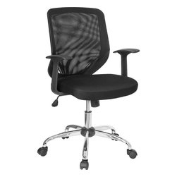 Flash Furniture - Mid-Back Black Mesh Office Chair with Mesh Fabric Seat - This value priced mesh office task chair will accommodate your essential needs for your home or office. Chair features a breathable mesh back with a comfortably padded mesh seat. Chair is height adjustable to conform to several desk sizes.