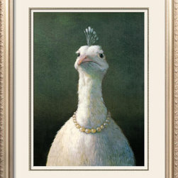 "Fowl with Pearls Print by Michael Sowa - At times when I see especially intriguing artwork, I'll stop and ask myself, ""What scared the artist as a child?"" This would be one of those times and I would surmise it had something to do with an aunt and Thanksgiving."