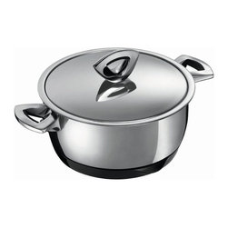 Kuhn Rikon - Kuhn Rikon Durotherm Swiss Thermal Cookware Casserole, 1 qt. - Swiss precision work, technology and design are combined in these double walled thermal cookware from Kuhn Rikon. The new stay-cold handles and the practical magnetic heat-retaining base made from melamine bring the product to the state of the art with regard to quality.