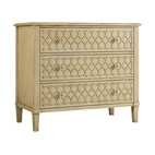 Hooker Furniture - Raised Lattice Front Chest - This dresser is party in the front, business in the back. Dressers can be fun and whimsical as demonstrated in this raised lattice chest of drawers. Three drawers have plenty of space to house your folded clothes.
