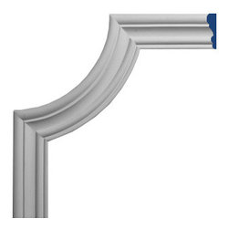 "Inviting Home - Pompano Molding Corner I - Pompano panel molding corner I 8-1/2""H x 8-1/2""W This panel molding corner is made from high density polyurethane. The front surface of this panel molding corner has extra durable and smooth and is pre-primed with water-based white paint. POlyurethane is lightweight durable and easy to install using common woodworking tools. Metal dies were used for consistent quality and perfect part to part match for hassle free installation. This corner has sharp deep and highly defined design. This corner can be finished with any quality paints."