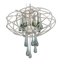 Varaluz - Area 51 3 Light Pendants in Pearl - This 3 light Pendant from the Area 51 collection by Varaluz will enhance your home with a perfect mix of form and function. The features include a Pearl finish applied by experts. This item qualifies for free shipping! Wattage:50, Lamp Type:G9 Halogen, Bulbs:3