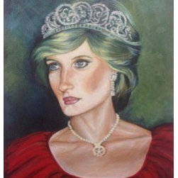 Diana. (Original) by Ayah Alrabbat - Inspired by Princess Diana, I chose to bring forth her grace and royalty and unfold her impact on the lives she touched once again. A true inspiration for many others; she was a symbol of good humanity society needed.