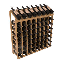 Wine Racks America - 64 Bottle Display Top Wine Rack in Pine, Oak Stain + Satin Finish - Make your best vintage the focal point of your cellar or store. Eight of the best bottles are presented at 30 degree angles. Our wine cellar kits are constructed to industry-leading standards. You'll be satisfied. We guarantee it. Display top wine racks are perfect for commercial or residential environments.