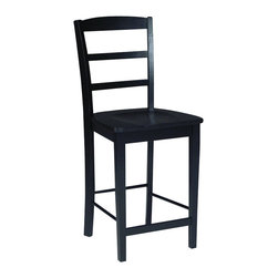 "International Concepts - International Concepts Madrid 24"" Stool in Black - International Concepts - Bar Stools - S46402"
