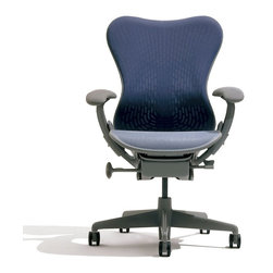 Herman Miller - Herman Miller Mirra Chair - A happy union of seemingly incompatible concepts: More support and less material. High performance and attractive price. Fewer adjustments and better fit. Does more and requires less.