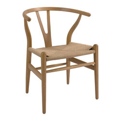 The Wishbone Wood Dining Arm Chair - Seat Height: 18.5""