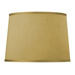 "Dolan Designs - Caramel Hard Back Barrel Shade 14"" Top x 16"" - This stylish full-sized lamp shade is designed to be matched with full-sized mix-and-match lamp bases by Dolan Designs. Dolan Designs proudly presents the latest in lighting excellence. Each lamp shade in our mix and match program is a statement of style and beauty without sacrificing affordability. By combining this lamp shade with our coordinating lamp bases you can create your own unique look from dozens of possible combinations. We invite you to experience mix and match lighting from Dolan Designs for yourself."